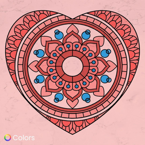 Colored lineart 5 from Instagram of Colors App